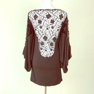Medium Brown Backless Sky Dress